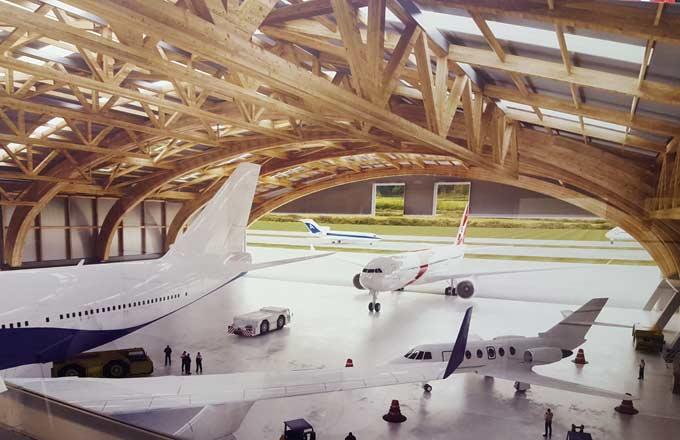 Un hangar en bois pour les avions gros porteurs l for Construction bois 68