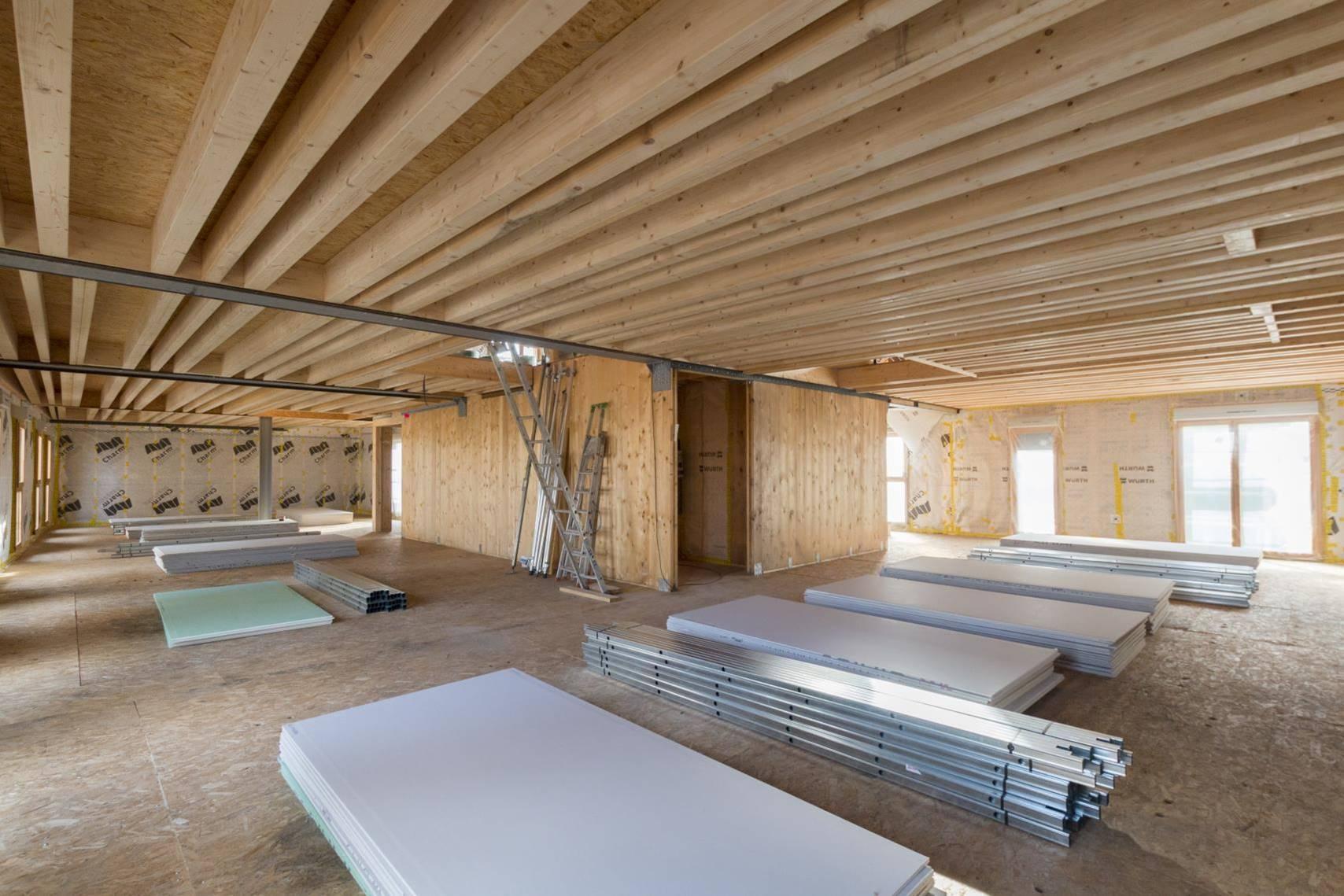 Un immeuble en bois de pin h tre m l ze pour montreuil for Construction bois 93