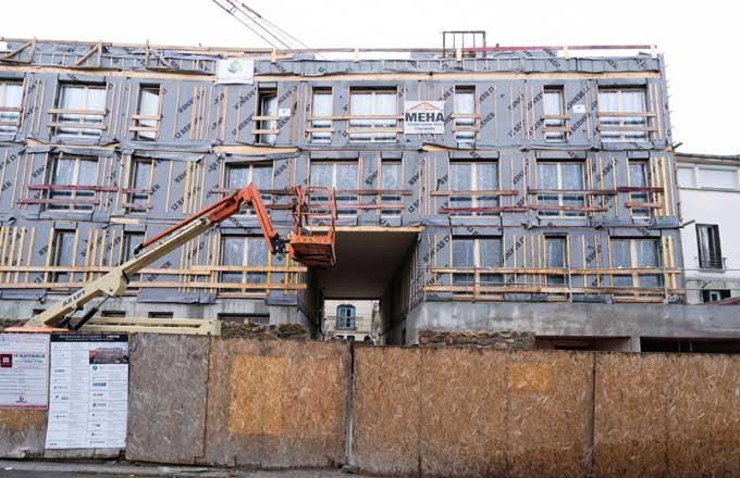 Un immeuble de bureaux en bois r 7 sort de terre paris for Construction bois 93