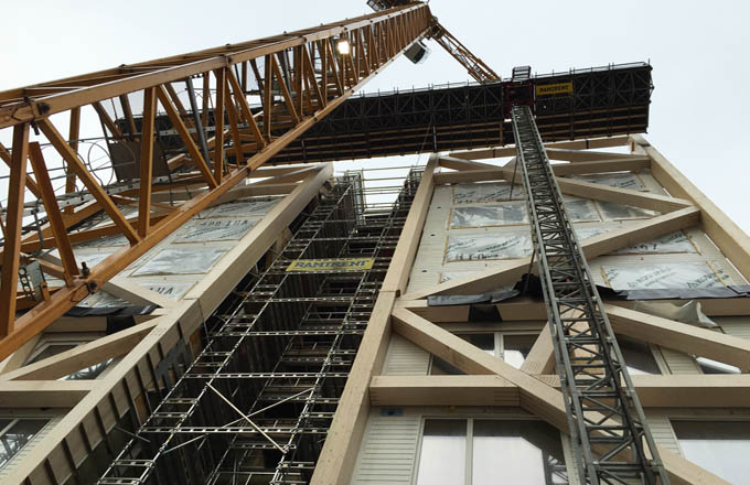 Bient t 36 immeubles en bois en france une premi re for Immeuble bureaux structure bois